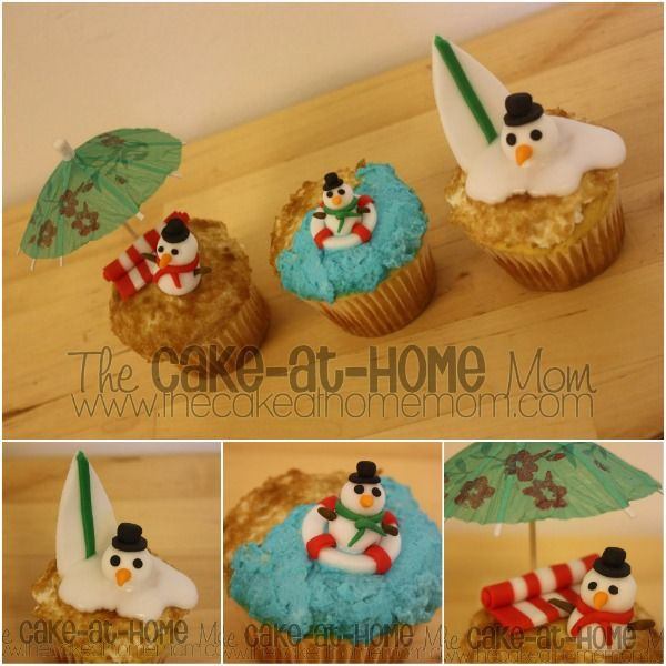 Christmas in July Decoration Ideas | Christmas in July Cupcakes