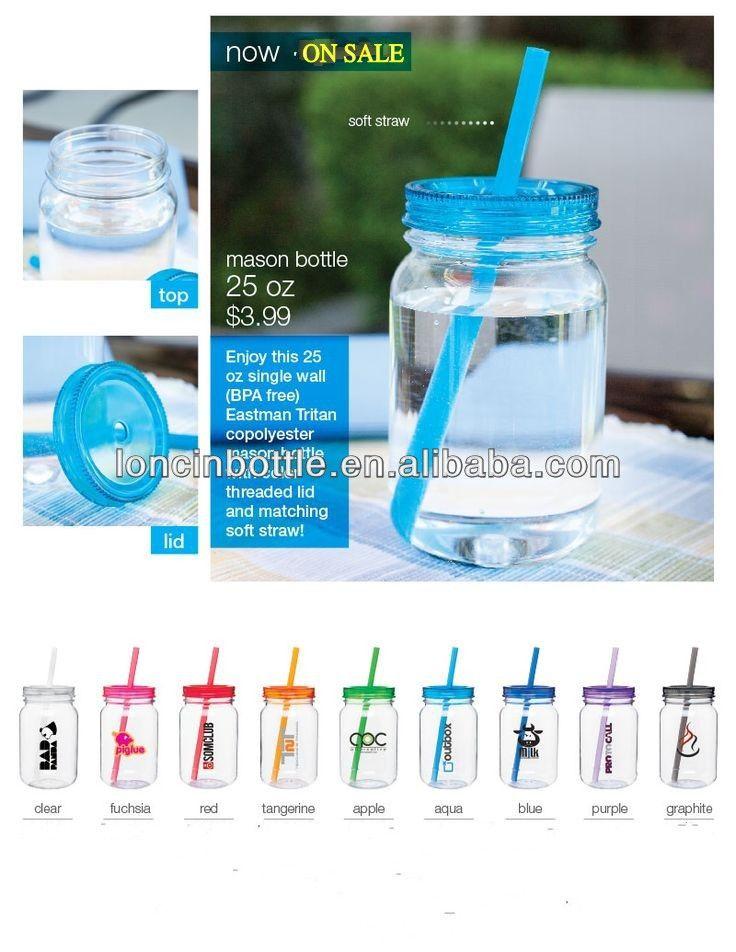20 de plástico oz mason jar, personalizada de color verde y azul marino de acrílico mason jar vaso de plástico con paja-Tazas/Mugs/Tarros-Identificación del producto:300003175204-spanish.alibaba.com