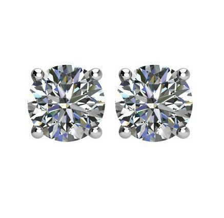 9mm (6 carats tw.) Forever One Moissanite Stud Earrings 14k White Gold, 3 Carat Each, Moissanite Earrings, Anniversary Gifts, Studs, Christmas Gifts for Women, Diamond Alternative