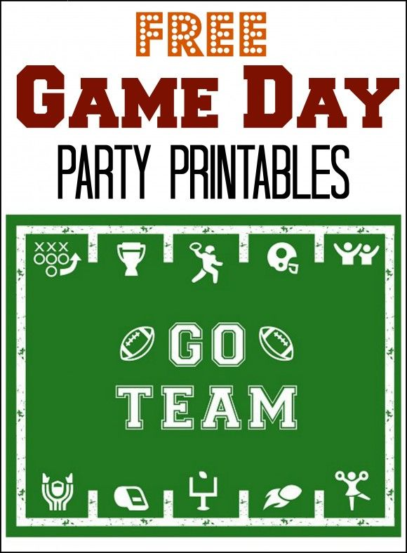 Free Game Day Party Printables, perfect for your Super Bowl parties this Sunday! See more party ideas at CatchMyParty.com. #superbowl #freeprintables