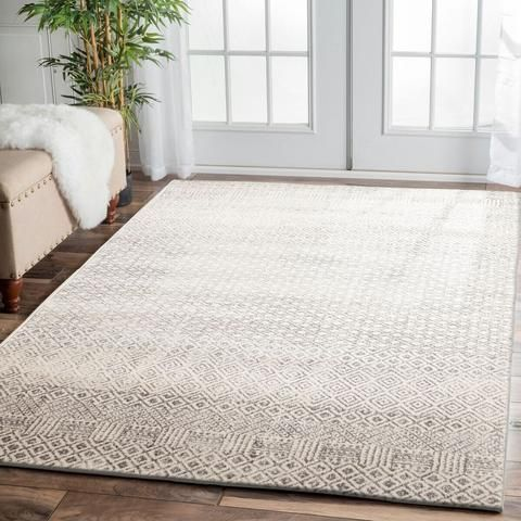 Order Dacca Transitional Grey Beige Designer Rug from Rugs of Beauty. FREE shipping on all sizes. A lovely addition to your home.