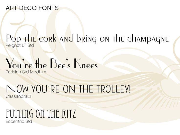 Art Deco Wedding Fonts