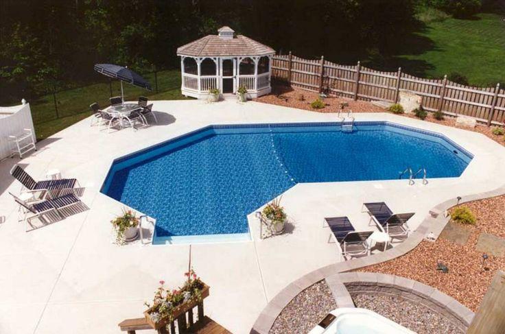 1010 best 3 images on pinterest yard design diy house for Garden swimming pools below ground