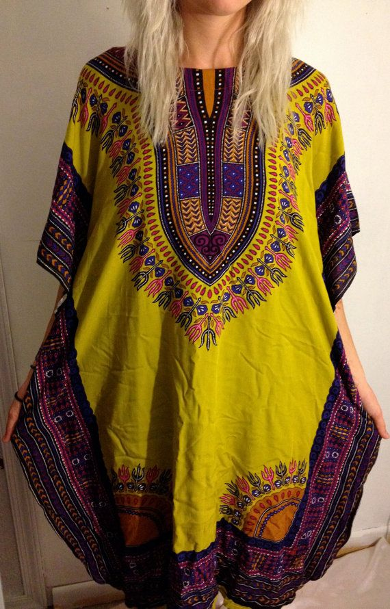 Vintage Dashiki Dress // Festival Hippie by EuphoriaNineDesigns, $45.00