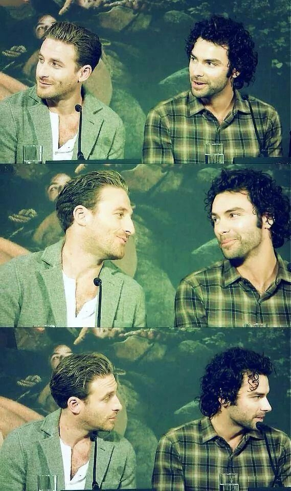 Aidan Turner.        And Dean O'Gorman was there, too, I guess.