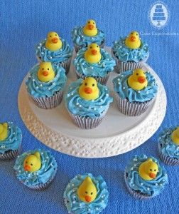 Cake Expectations - www.cakeexpectations.ca » Blog Archive » Rubber Ducky Baby Shower Cupcakes
