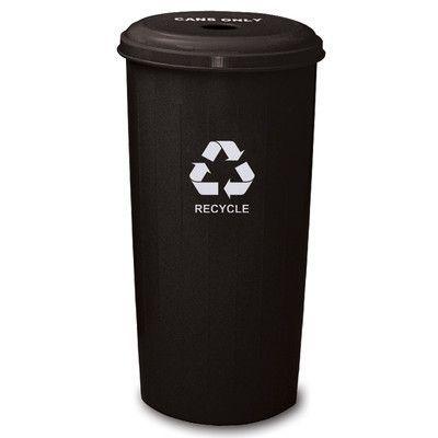 Witt Metal Recycling 20-Gal Industrial Recycling Bin Color: Black