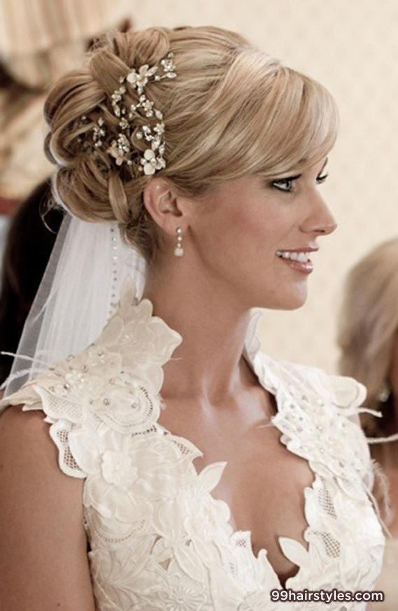 wedding hairstyle for medium hair - 99 Hairstyles Ideas