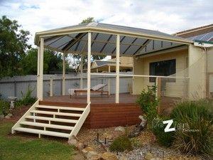 Steel Gazebo End Verandah With Merbau Deck