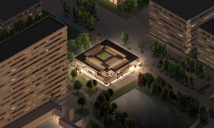 The Canopy: Student Pavilion Erasmus University / NEXT Architects + MASS Studies