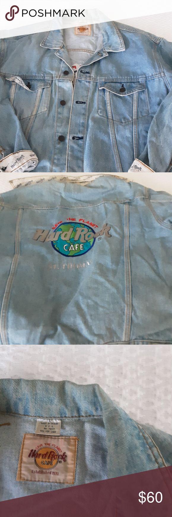Hardrock Cafe Denim Jacket From St Thomas Cafe Jacket Denim Jacket Jackets [ 1740 x 580 Pixel ]