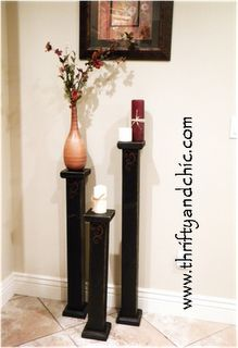 Candlesticks - Idea for the gorgeous  porch pillars from the old Ellebracht home in Fredericksburg