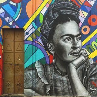 Street art, Guadalajara, Mexico. Seen leaving Centro while on bus.