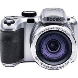 "Kodak AZ361 - 16MP Camera, 36X Optical Zoom, 3"" LCD Screen, 720p Video Recording - Silver"