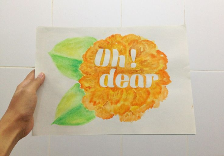OMG! #handlettering #negativespace #typography #doodles #flowers