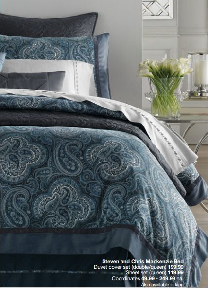 Steven And Chris Mackenzie Bedding Homeoutfitters Blue