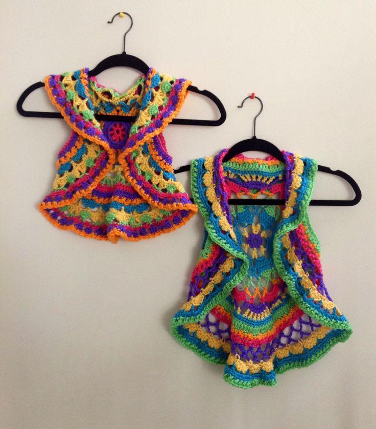 Crochet circular vest size 4&6