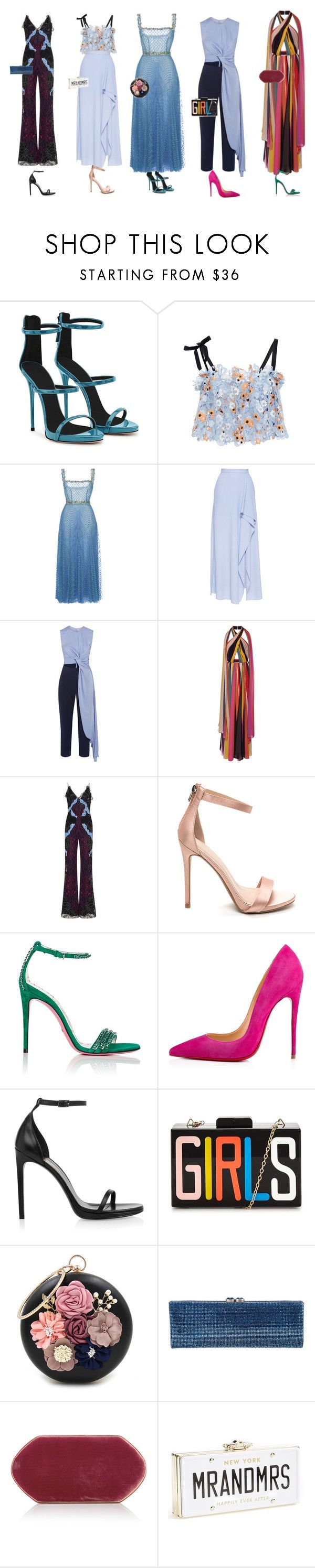 """wedding"" by anaunderground on Polyvore featuring moda, Giuseppe Zanotti, Katie Ermilio, LUISA BECCARIA, Roland Mouret, Roksanda, Elie Saab, Jonathan Simkhai, Gucci e Christian Louboutin"