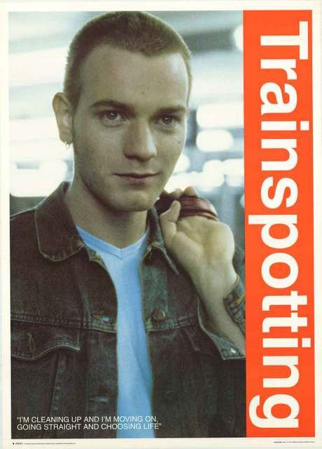 "A great poster of Ewan McGregor - Marc ""Rent Boy"" Renton in Danny Boyle's 1996 film adaptation of Irvine Welsh's novel Trainspotting! Published in 1996. Fully licensed. Ships fast. 25x35 inches. Check"