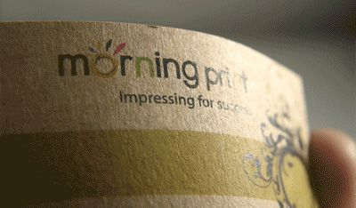 MorningPrint AU | Kraft Business Cards | Recycled Paper