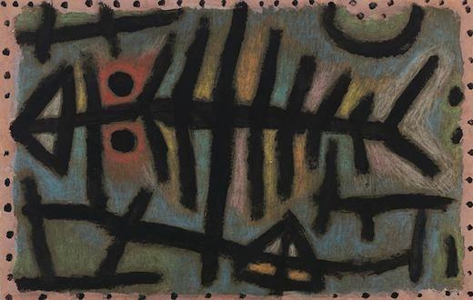 Poisson cloporte boueux, par Paul Klee - 1940