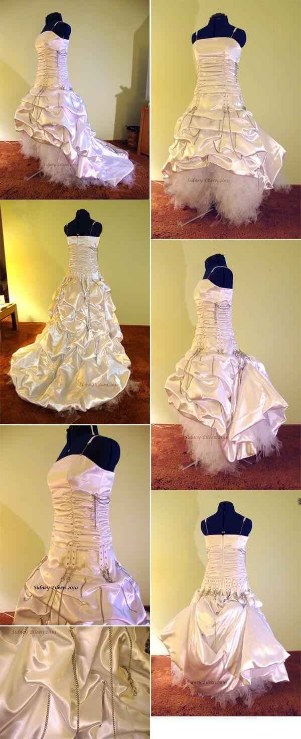 Elegant Punk Rock Wedding Dress, by Sidney Eileen