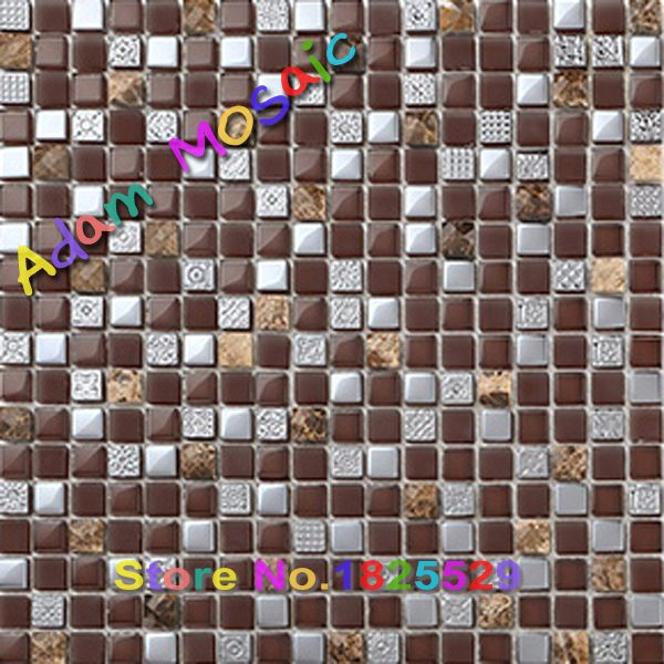 glass tile brown mosaic wall panels natural stone brown tiles kitchen