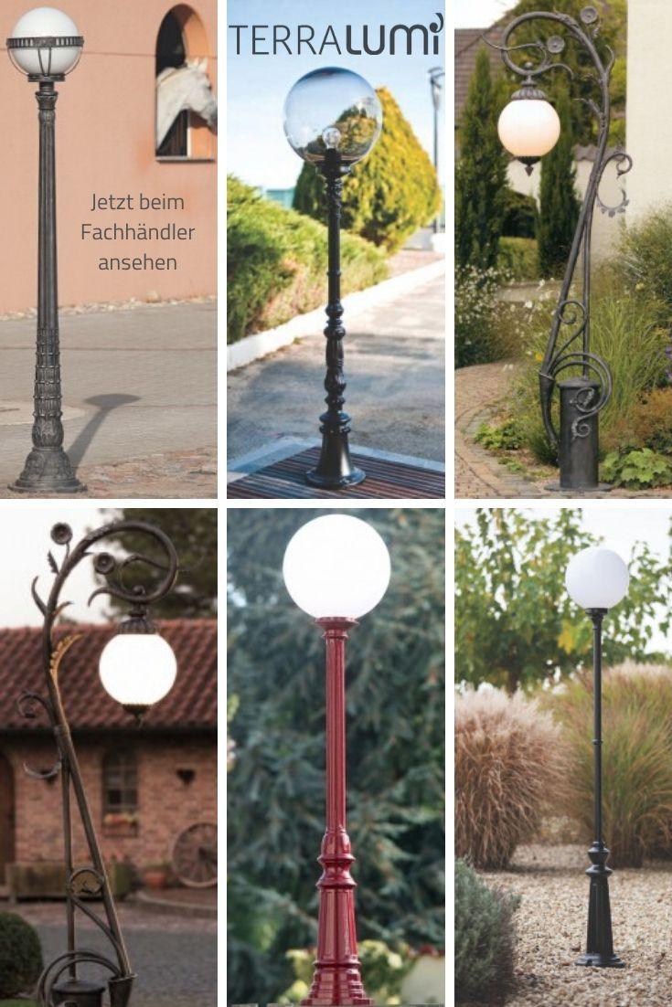 Garten Standleuchten Mit Kugel Laternen Gartenleuchten Strassenlaterne Hausbeleuchtung