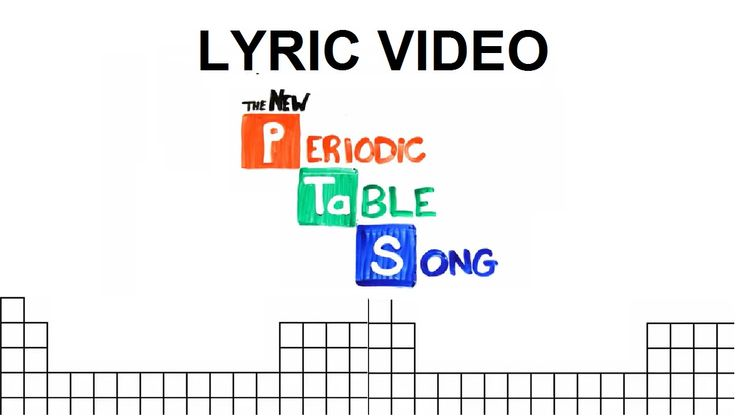 Periotic table song lyrics