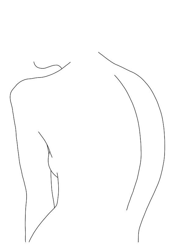 line drawing of womens body giclee print a2 size printed on lovely