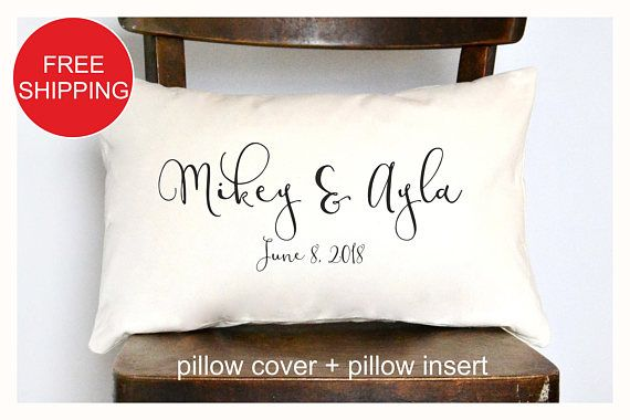 Personalized Pillow Wedding Gift Anniversary Gift Pillow Personalized Wedding Pillow Personalized Pillows Pillow Gift
