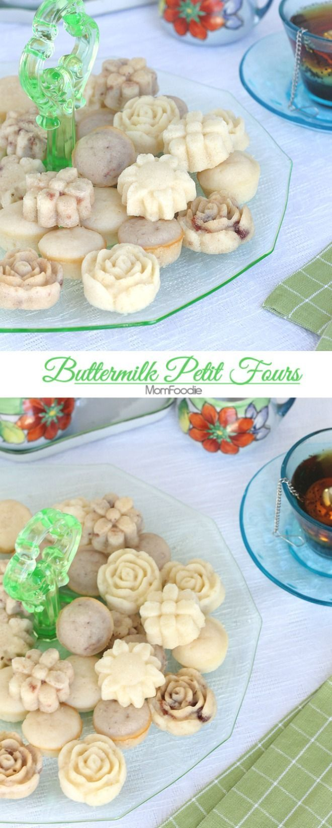 Buttermilk Petit Fours:  Tea Party Food (Perfect for Mother's Day)