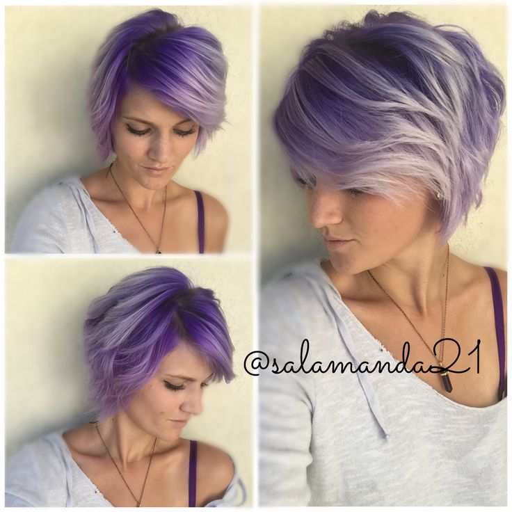 Purple Ombr On Short Hair My Hair In 2018 Pinterest Short