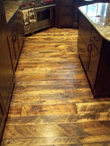 Rough Wood Planks ~ Skip sawn white pine wide plank flooring balsam