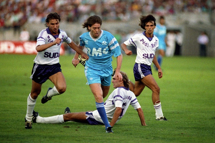 Chris Waddle while playing for Marseille.  Moving this way, that way and that was just the mullett!