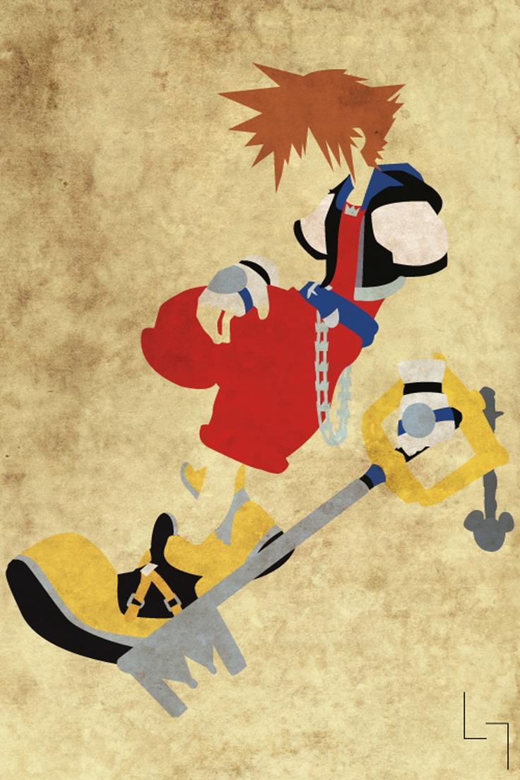 i want a print to Soras room....Sora, Kingdom Hearts