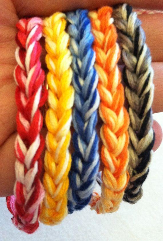 Crochet friendship bracelet thread bracelet by FromTheHeartBySue
