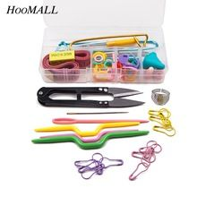 Hoomall 1 компл. вязание инструментов крючки иглы стежки ножницы булавки набор вязание ремесло дело набор для вязания(China (Mainland))