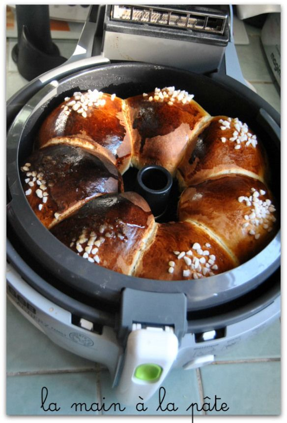 Cake with vanilla, baking the Actifry