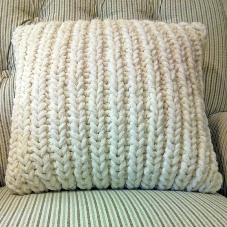 Fisherman's Rib Accent Pillow Purl Avenue pattern.