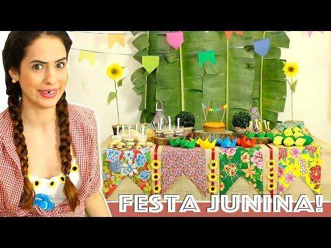 DICAS para DECORAR MESA de FESTA JUNINA - YouTube