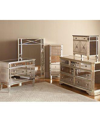 Marais Bedroom Furniture Sets & Pieces, Mirrored - Bedroom Furniture - furniture - Macys