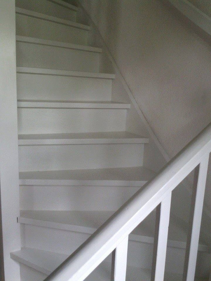 1000 idee n over verf trap op pinterest geschilderde trap trappen schilderen en geschilderde for Gang grijs en wit