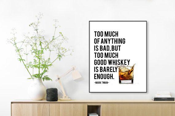 Letterpress Whiskey Poster Whiskey Prints Bar Art Whiskey