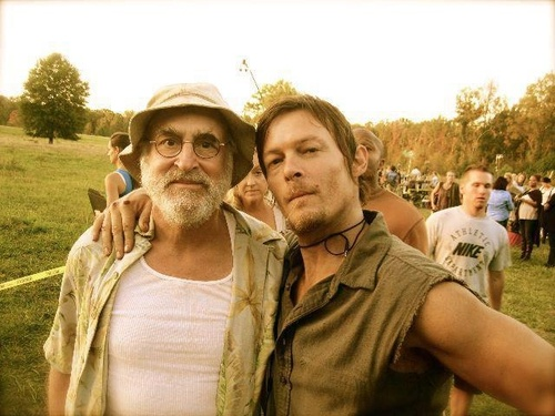 Jeffrey DeMunn and Norman Reedus portray the characters of Dale Horvah and Daryl Dixon.......
