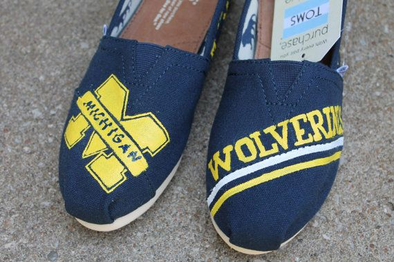 University of Michigan TOMS by LanniBsTreasures on Etsy, $35.00