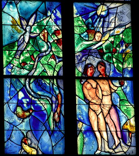 Adam and Eve ~ Marc Chagall choir windows in St. Stephan, Mainz  Germany ~ by bruno brunelli via flickr