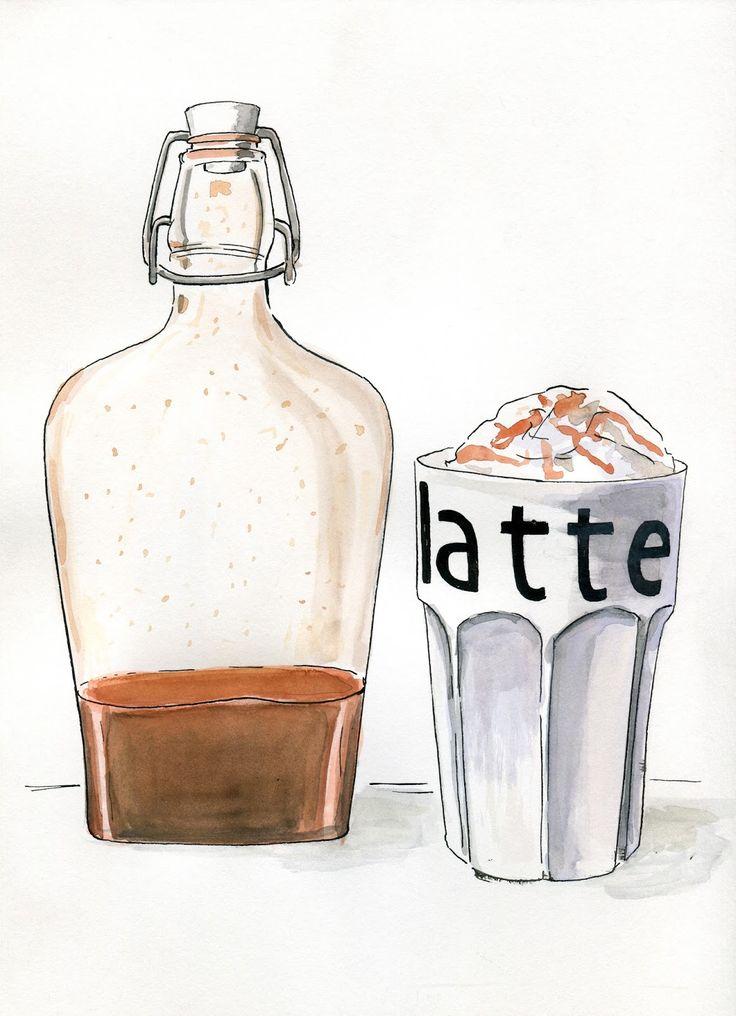 Food Illustrations: Dyniowy syrop do kawy