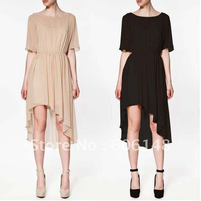 vestidos falda cola de pato