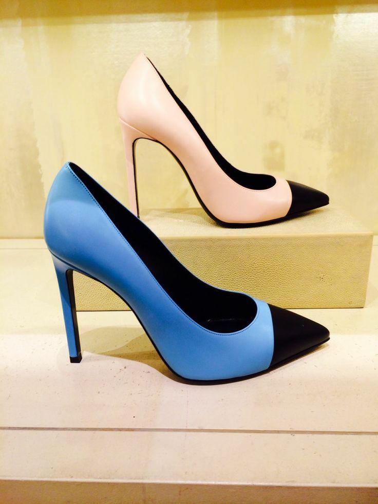 Classic toecap pumps in playful Spring colors. Saint Laurent, 212 872 8947
